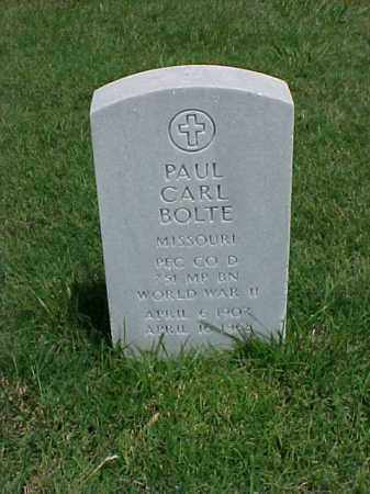 BOLTE (VETERAN WWII), PAUL CARL - Pulaski County, Arkansas | PAUL CARL BOLTE (VETERAN WWII) - Arkansas Gravestone Photos