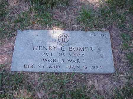 BOMER (VETERAN WWI), HENRY C - Pulaski County, Arkansas | HENRY C BOMER (VETERAN WWI) - Arkansas Gravestone Photos