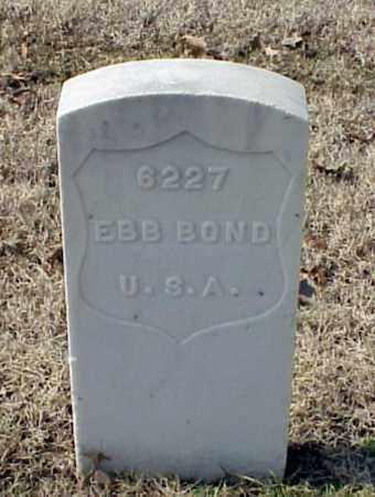 BOND (VETERAN WWI), EBB - Pulaski County, Arkansas | EBB BOND (VETERAN WWI) - Arkansas Gravestone Photos