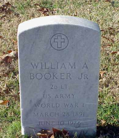 BOOKER, JR (VETERAN WWI), WILLIAM A - Pulaski County, Arkansas | WILLIAM A BOOKER, JR (VETERAN WWI) - Arkansas Gravestone Photos