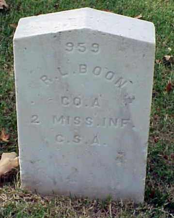 BOON (VETERAN CSA), R  L - Pulaski County, Arkansas | R  L BOON (VETERAN CSA) - Arkansas Gravestone Photos