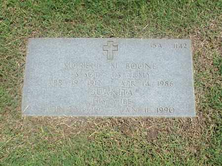 BOONE (VETERAN WWII), MORRELL M - Pulaski County, Arkansas | MORRELL M BOONE (VETERAN WWII) - Arkansas Gravestone Photos