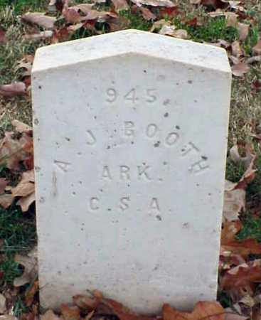 BOOTH (VETERAN CSA), A  J - Pulaski County, Arkansas | A  J BOOTH (VETERAN CSA) - Arkansas Gravestone Photos