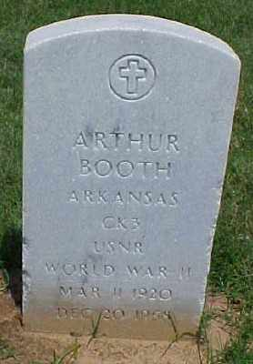 BOOTH (VETERAN WWII), ARTHUR - Pulaski County, Arkansas | ARTHUR BOOTH (VETERAN WWII) - Arkansas Gravestone Photos