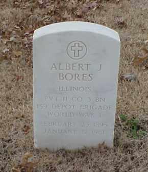 BORES  (VETERAN WWI), ALBERT J - Pulaski County, Arkansas | ALBERT J BORES  (VETERAN WWI) - Arkansas Gravestone Photos