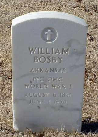 BOSBY (VETERAN WWI), WILLIAM - Pulaski County, Arkansas | WILLIAM BOSBY (VETERAN WWI) - Arkansas Gravestone Photos