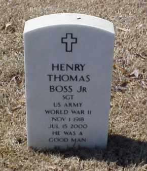 BOSS, JR (VETERAN WWII), HENRY THOMAS - Pulaski County, Arkansas | HENRY THOMAS BOSS, JR (VETERAN WWII) - Arkansas Gravestone Photos
