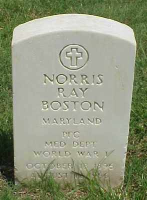 BOSTON (VETERAN WWI), NORRIS RAY - Pulaski County, Arkansas | NORRIS RAY BOSTON (VETERAN WWI) - Arkansas Gravestone Photos