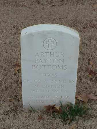 BOTTOMS (VETERAN WWI), ARTHUR PAYTON - Pulaski County, Arkansas | ARTHUR PAYTON BOTTOMS (VETERAN WWI) - Arkansas Gravestone Photos