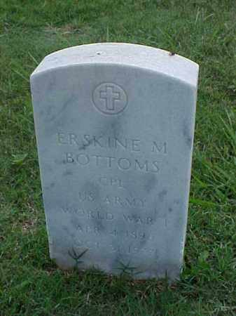 BOTTOMS (VETERAN WWI), ERSKINE M - Pulaski County, Arkansas | ERSKINE M BOTTOMS (VETERAN WWI) - Arkansas Gravestone Photos