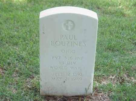 BOUZINES (VETERAN WWI), PAUL - Pulaski County, Arkansas | PAUL BOUZINES (VETERAN WWI) - Arkansas Gravestone Photos