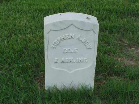 BOW (VETERAN UNION), STEPHEN A - Pulaski County, Arkansas | STEPHEN A BOW (VETERAN UNION) - Arkansas Gravestone Photos