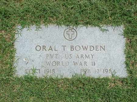 BOWDEN (VETERAN WWII), ORAL T - Pulaski County, Arkansas | ORAL T BOWDEN (VETERAN WWII) - Arkansas Gravestone Photos