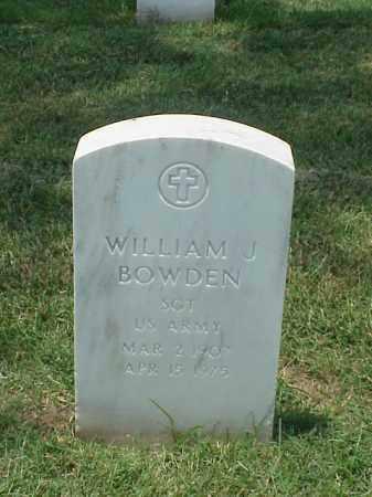 BOWDEN (VETERAN WWII), WILLIAM J - Pulaski County, Arkansas | WILLIAM J BOWDEN (VETERAN WWII) - Arkansas Gravestone Photos