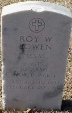 BOWEN (VETERAN WWI), ROY W - Pulaski County, Arkansas | ROY W BOWEN (VETERAN WWI) - Arkansas Gravestone Photos