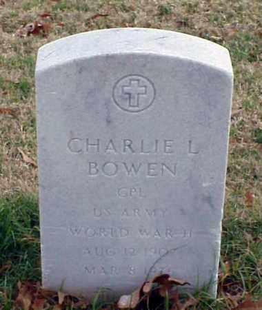 BOWEN (VETERAN WWII), CHARLIE L - Pulaski County, Arkansas | CHARLIE L BOWEN (VETERAN WWII) - Arkansas Gravestone Photos