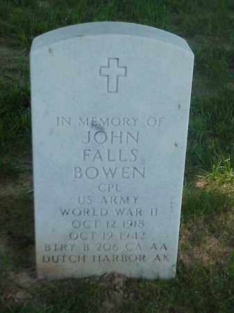 BOWEN (VETERAN WWII), JOHN FALLS - Pulaski County, Arkansas | JOHN FALLS BOWEN (VETERAN WWII) - Arkansas Gravestone Photos