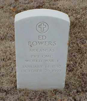 BOWERS  (VETERAN WWI), ED - Pulaski County, Arkansas | ED BOWERS  (VETERAN WWI) - Arkansas Gravestone Photos
