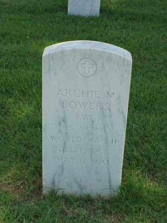 BOWERS (VETERAN WWII), ARCHIE M - Pulaski County, Arkansas | ARCHIE M BOWERS (VETERAN WWII) - Arkansas Gravestone Photos