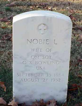 BOWLING, NOBIE L - Pulaski County, Arkansas | NOBIE L BOWLING - Arkansas Gravestone Photos
