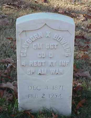 BOWLING (VETERAN SAW), CLAYBORN X - Pulaski County, Arkansas | CLAYBORN X BOWLING (VETERAN SAW) - Arkansas Gravestone Photos