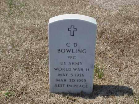 BOWLING (VETERAN WWII), C D - Pulaski County, Arkansas | C D BOWLING (VETERAN WWII) - Arkansas Gravestone Photos