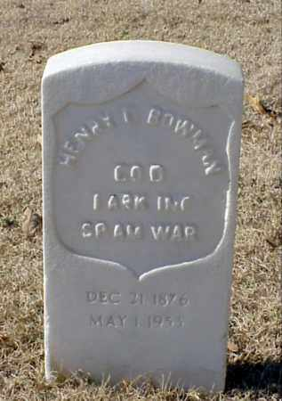 BOWMAN (VETERAN SAW), HENRY C - Pulaski County, Arkansas | HENRY C BOWMAN (VETERAN SAW) - Arkansas Gravestone Photos