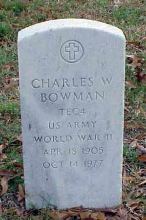 BOWMAN (VETERAN WWII), CHARLES W - Pulaski County, Arkansas | CHARLES W BOWMAN (VETERAN WWII) - Arkansas Gravestone Photos
