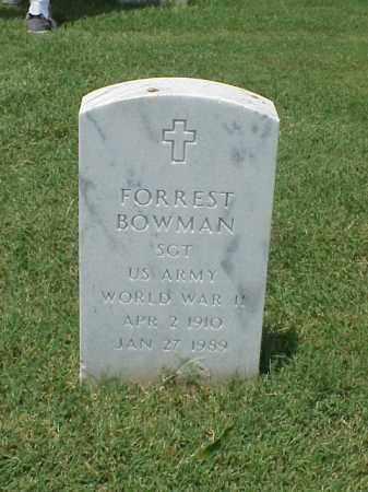 BOWMAN (VETERAN WWII), FORREST - Pulaski County, Arkansas | FORREST BOWMAN (VETERAN WWII) - Arkansas Gravestone Photos