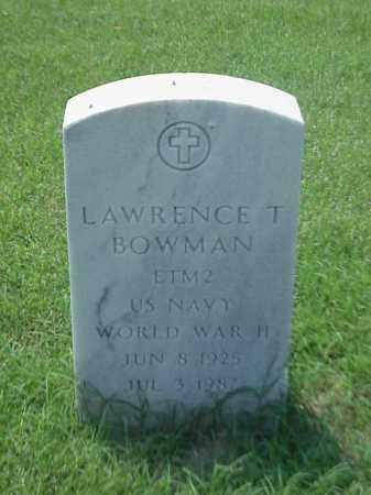 BOWMAN (VETERAN WWII), LAWRENCE T - Pulaski County, Arkansas | LAWRENCE T BOWMAN (VETERAN WWII) - Arkansas Gravestone Photos