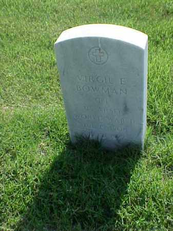 BOWMAN (VETERAN WWII), VIRGIL E - Pulaski County, Arkansas | VIRGIL E BOWMAN (VETERAN WWII) - Arkansas Gravestone Photos