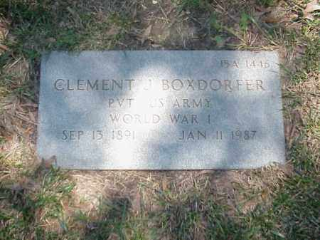 BOXDORFER (VETERAN WWI), CLEMENT J - Pulaski County, Arkansas | CLEMENT J BOXDORFER (VETERAN WWI) - Arkansas Gravestone Photos