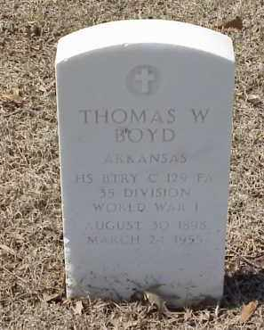 BOYD  (VETERAN WWI), THOMAS W - Pulaski County, Arkansas | THOMAS W BOYD  (VETERAN WWI) - Arkansas Gravestone Photos