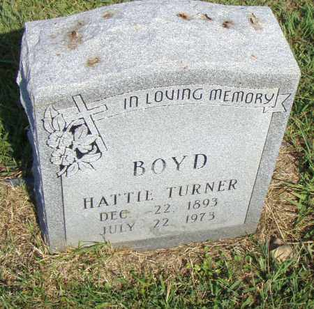 TURNER BOYD, HATTIE - Pulaski County, Arkansas | HATTIE TURNER BOYD - Arkansas Gravestone Photos