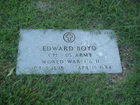 BOYD (VETERAN 2 WARS), EDWARD - Pulaski County, Arkansas | EDWARD BOYD (VETERAN 2 WARS) - Arkansas Gravestone Photos