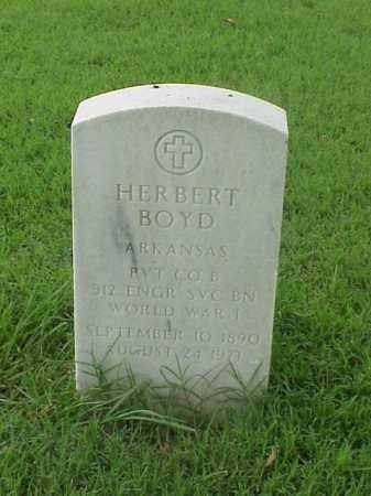 BOYD (VETERAN WWI), HERBERT - Pulaski County, Arkansas | HERBERT BOYD (VETERAN WWI) - Arkansas Gravestone Photos