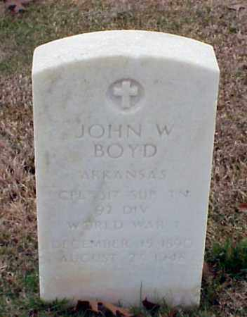 BOYD (VETERAN WWI), JOHN W - Pulaski County, Arkansas | JOHN W BOYD (VETERAN WWI) - Arkansas Gravestone Photos