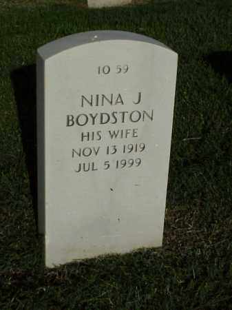 BOYDSTON, NINA J - Pulaski County, Arkansas | NINA J BOYDSTON - Arkansas Gravestone Photos