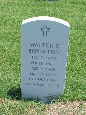 BOYDSTON (VETERAN WWII), WALTER E - Pulaski County, Arkansas | WALTER E BOYDSTON (VETERAN WWII) - Arkansas Gravestone Photos