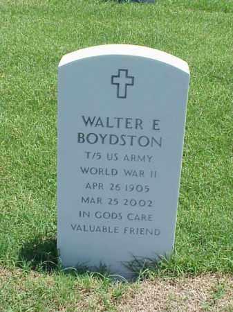 BOYDSTON (VETERAN WWII), WALTER E - Pulaski County, Arkansas   WALTER E BOYDSTON (VETERAN WWII) - Arkansas Gravestone Photos