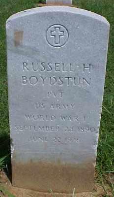 BOYDSTUN (VETERAN WWI), RUSSELL H - Pulaski County, Arkansas   RUSSELL H BOYDSTUN (VETERAN WWI) - Arkansas Gravestone Photos