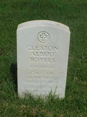 BOYLES (VETERAN WWII), CLEATON ALBERT - Pulaski County, Arkansas | CLEATON ALBERT BOYLES (VETERAN WWII) - Arkansas Gravestone Photos