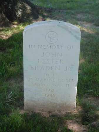 BRADEN, JR (VETERAN WWII), JOHN LESTER - Pulaski County, Arkansas | JOHN LESTER BRADEN, JR (VETERAN WWII) - Arkansas Gravestone Photos