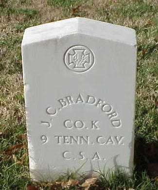 BRADFORD (VETERAN CSA), J C - Pulaski County, Arkansas | J C BRADFORD (VETERAN CSA) - Arkansas Gravestone Photos