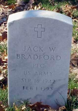 BRADFORD (VETERAN), JACK W - Pulaski County, Arkansas   JACK W BRADFORD (VETERAN) - Arkansas Gravestone Photos