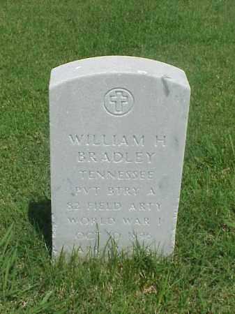 BRADLEY (VETERAN WWI), WILLIAM H - Pulaski County, Arkansas | WILLIAM H BRADLEY (VETERAN WWI) - Arkansas Gravestone Photos