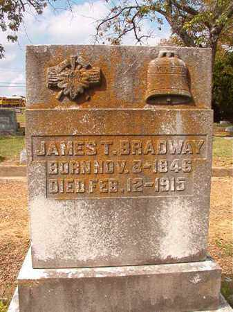 BRADWAY, JAMES T - Pulaski County, Arkansas | JAMES T BRADWAY - Arkansas Gravestone Photos