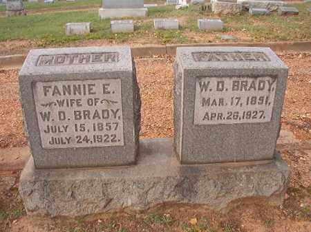 BRADY, FANNIE E - Pulaski County, Arkansas | FANNIE E BRADY - Arkansas Gravestone Photos