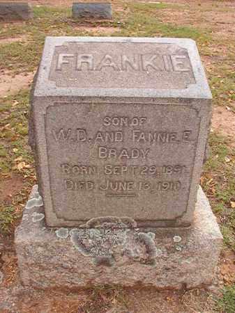 BRADY, FRANKIE - Pulaski County, Arkansas | FRANKIE BRADY - Arkansas Gravestone Photos