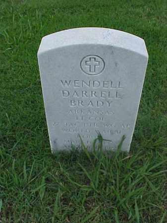 BRADY (VETERAN 2 WARS), WENDELL DARRELL - Pulaski County, Arkansas | WENDELL DARRELL BRADY (VETERAN 2 WARS) - Arkansas Gravestone Photos